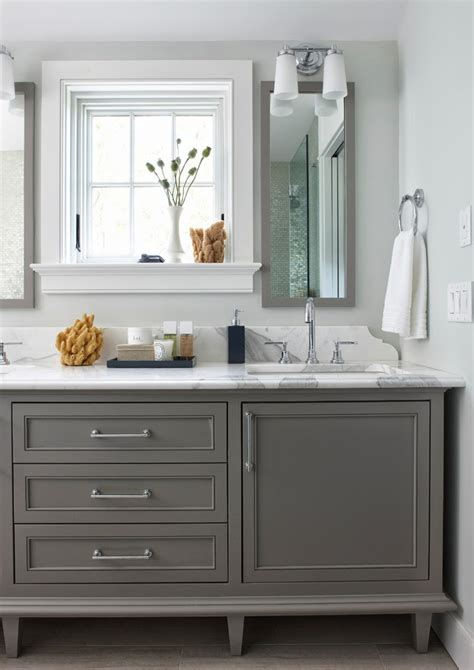 gray painted bathroom cabinets house of turquoise rachel reider interiors
