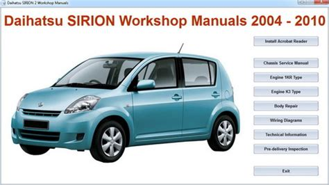 Daihatsu Sirion Workshop Manual Daihatsu Sirion Master Repair Electrical Manual