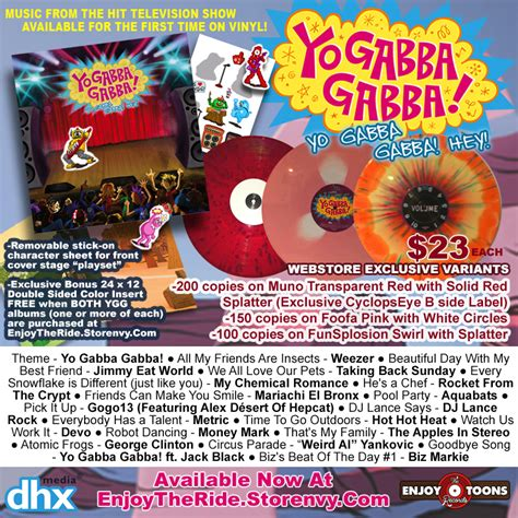 gabba gabba hey yo gabba gabba hey 183 enjoy the ride records store