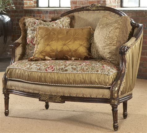 luxury settees shirred silk settee luxury fine home furnishings