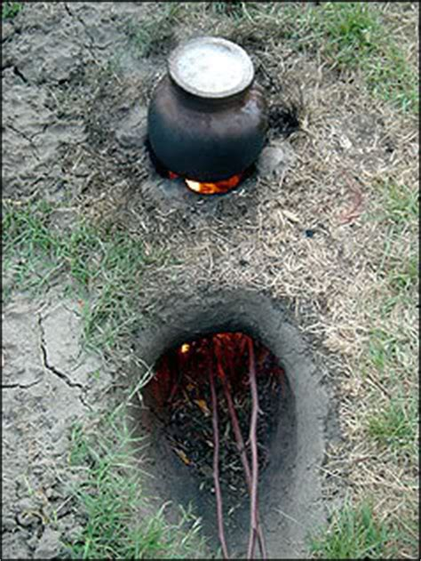 Survival Cooking Using No Bushcraft Equipment Dakota Firepit