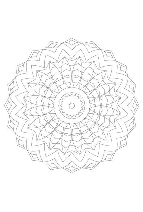 flower mandala as template for embroidery coloring