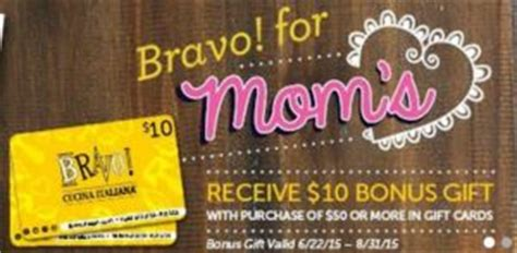 Bravo Gift Cards - mother s day freebies deals 2015