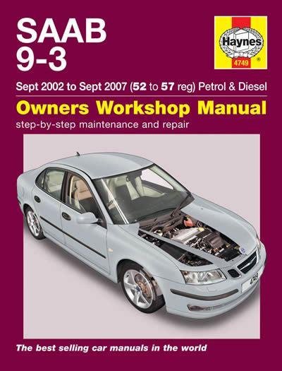 9 3 sports 02 07 petrol diesel haynes workshop manual