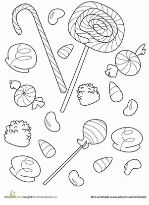 candy worksheet education com