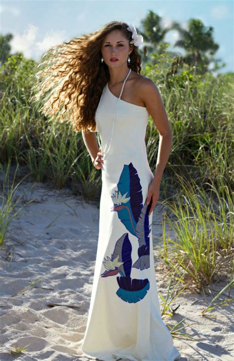 most beautiful hawaiian wedding dress design