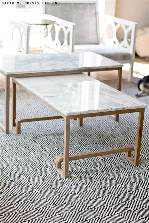 marble nesting tables for the living room m