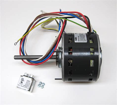 motor capacitor speed furnace air handler blower motor 1 6 hp 1075 rpm 115 volt 3 speed for fasco d928 ebay
