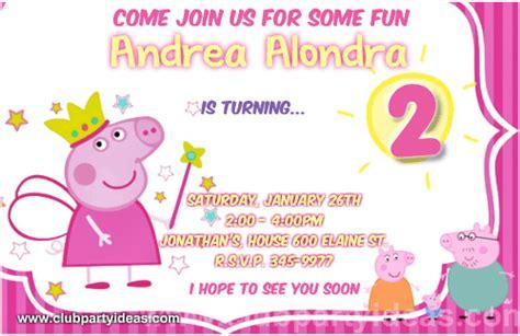 Peppa Pig Birthday Invitations Free Printable Templates 2018 Peppa Pig Birthday Invitation Free Template