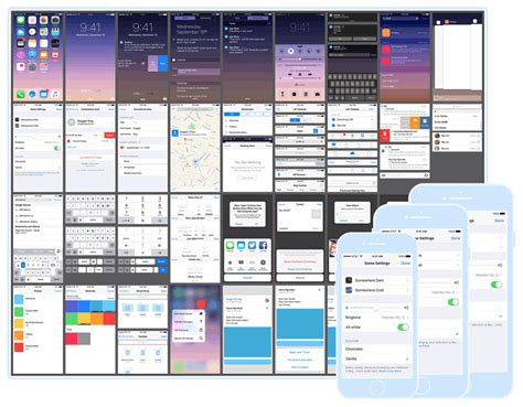 layout guides ios 9 free ios 9 gui kits templates