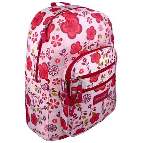 Pattern Pink Backpack trail maker pink purple flowers pattern backpack school bag click image for