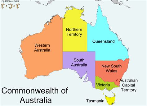map of australia with states map quenya101