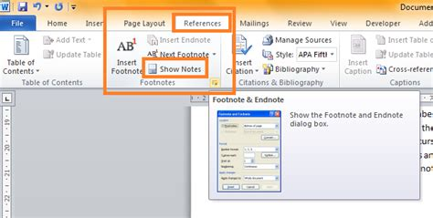 modify footnote text style changing the style of footnotes and endnotes to match