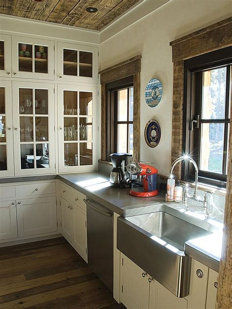 natural materials create farmhouse kitchen design hgtv 25 best ideas about stainless steel apron sink on