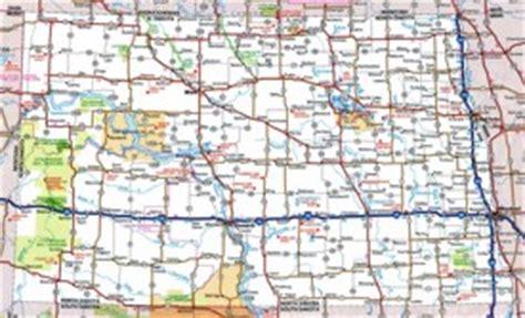 road map nd dakota state maps usa maps of dakota nd