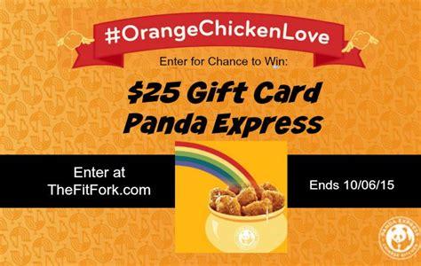 Panda Express Gift Card - panda express thefitfork com