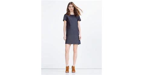Dress Denim Zara zara flowing denim dress in blue lyst