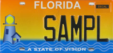 Florida Dmv Vanity Plates by Specialty License Plate A State Of Vision