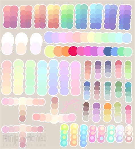 colores pastel pastel colour palette by ninjahmonki on deviantart