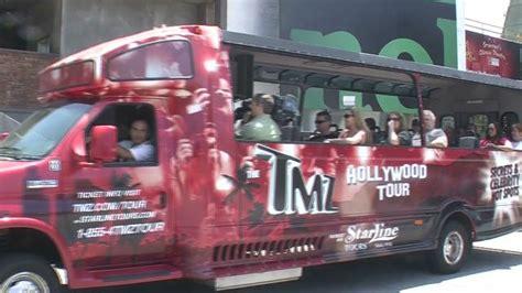 tmz bus has express trip to celebs bad behavior ny all aboard the tmz tour a tawdry trip through hollywood