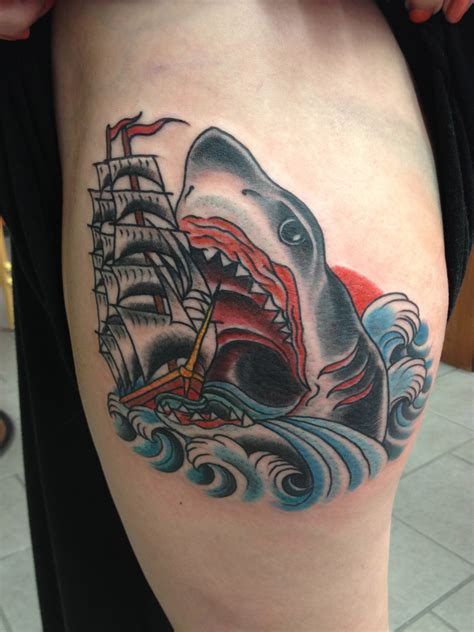 shark tattoo tattoos by nick kelly