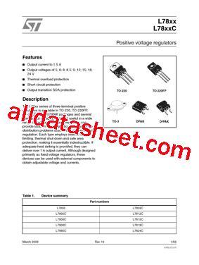 transistor l7805 datasheet l7805 datasheet pdf stmicroelectronics
