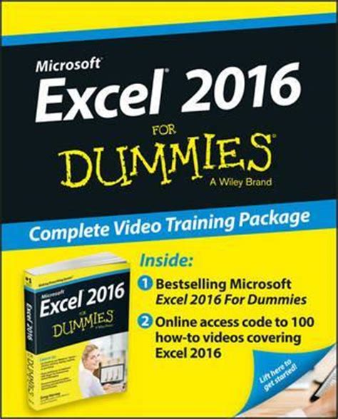 Spreadsheets For Dummies Free by Excel 2016 For Dummies Greg Harvey 9781119077046