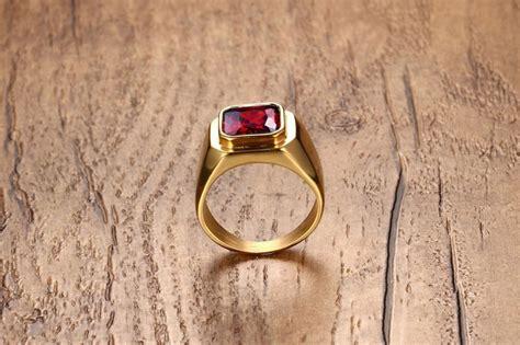 Cincin Gold Pasir Serbuk Emas Titanium 316l laki laki stainless steel band cincin ruby pernikahan emas lazada indonesia