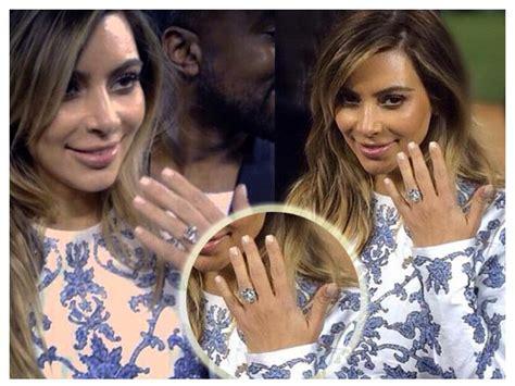 kim kardashian engagement ring cost kanye kim kardashian engaged to kanye west boldsky