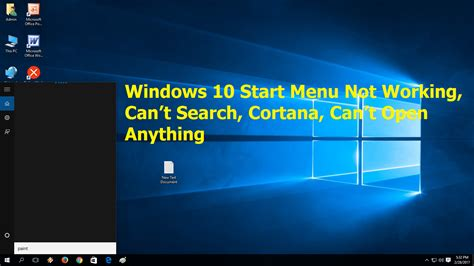 T Search Learn New Things How To Fix Windows 10 Start Menu Not Working Can T Search