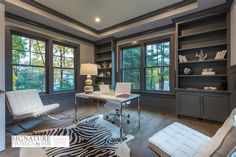Office Wainscoting Ideas by Gray Built In Bookcase Transitional Den Library Office