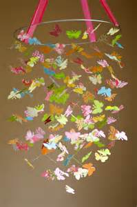 How To Make A Butterfly Chandelier Strawberry Sunrise Butterfly Mobile