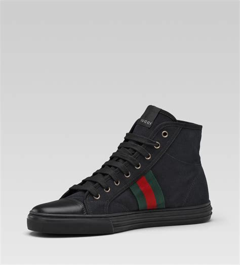 gucci high top sneakers for gucci hi top lace up sneaker black linen sneaker cabinet