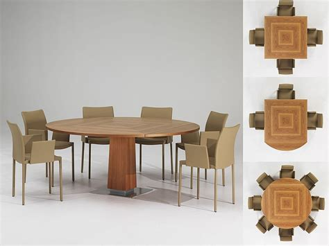 Dining Tabls Modern Expandable Dining Table With Wooden Finish Venise By Protis Digsdigs