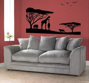 Safari Wall Decor For Living Room by Scenic Safari Wall Living Bed Room