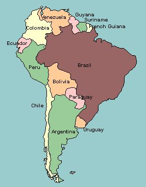 south america map labeled map of south america with countries labeled