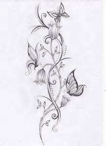 photo flower vine tattoo