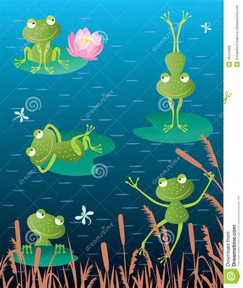 Imagenes D Ranas Alegres   ranas alegres ilustraci 243 n del vector imagen 46244008