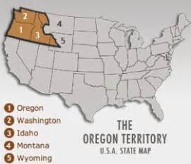 map of oregon territory ahc california divided oregon territory a single state