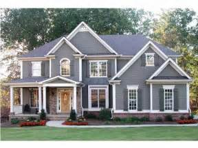 Craftman Home Plans Gallery For Gt Gray House Yellow Door Black Shutters