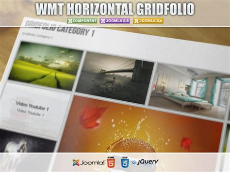 joomla category blog layout horizontal wmt horizontal gridfolio joomla component joomla