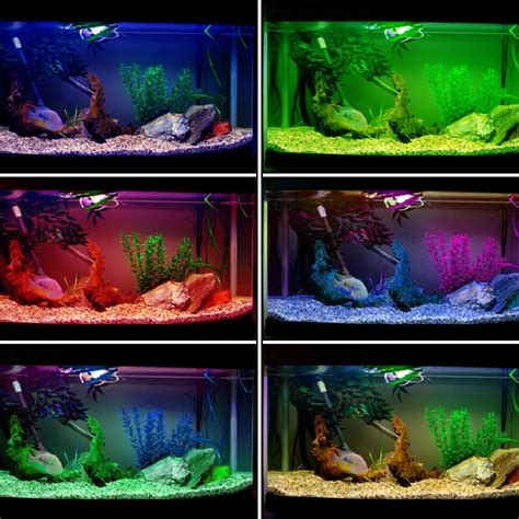 color changing led fish tank lights rgb colour changing led light aquarium fish tank set