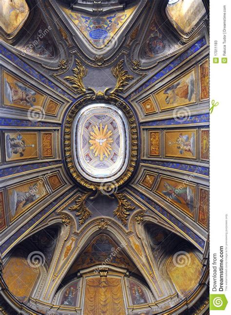 Italian Artist Who Painted The Ceiling Of The Sistine Chapel by Italian Church Ceiling In Rome Italy Stock Photos
