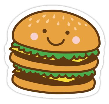imagenes de hamburguesas kawaii quot cute hamburger quot stickers by detourshirts redbubble