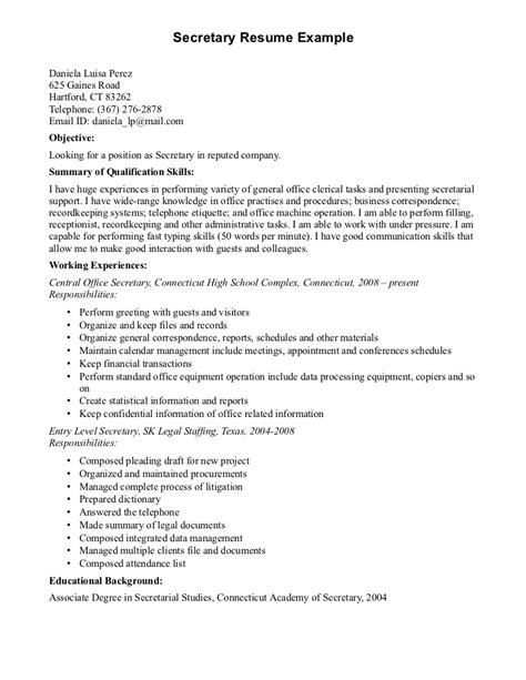 school secretary resume berathen com