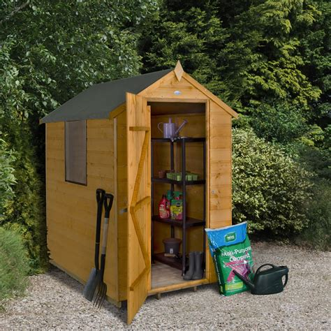 forest garden shiplap apex garden shed 4 x 6 at wilko