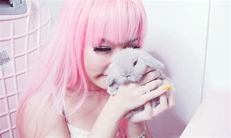 Wallpaper Bonny 1046 bunny cuteness pink hair animated gif