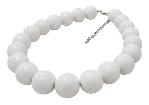 white bead necklace uk 10 x chunky white beaded necklaces joblot