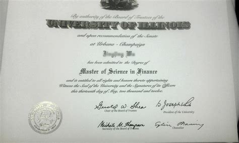 Of Illinois Mba Program by Xpress Deluxe Diploma With Transcripts Novelty Works Degrees