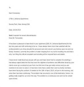 9 tenant complaint letter templates free sample